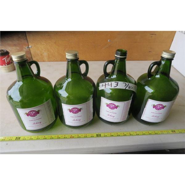 Tokay Altar Wine Bottle X 4 (one missing cap)