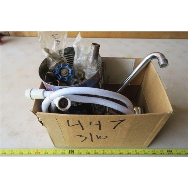 Box of Misc. Plumbing & Kitchen Tap