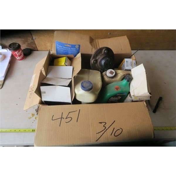 Lot of Automotive Fluids, Filters, and Misc.