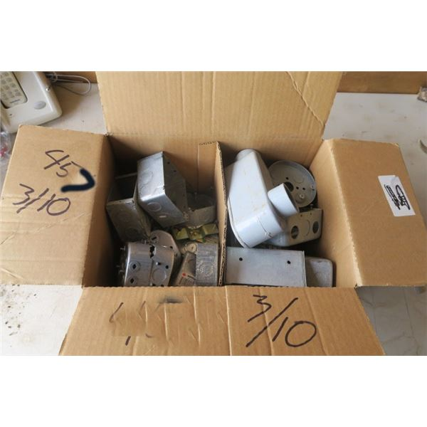 Box of misc. Electrical Boxes