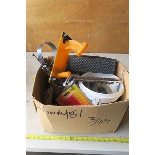 Box of Castors and Misc. Hand Tools