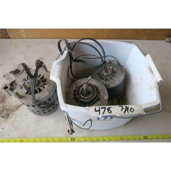 3 Electric Motors (Untested)