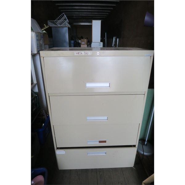4 Door Sliding Filing Cabinet 18X36X53