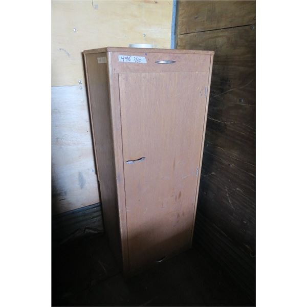 Wooden Cabinet With 2 Hydrocel Tanks 16.5 X  22.5 X 55.5