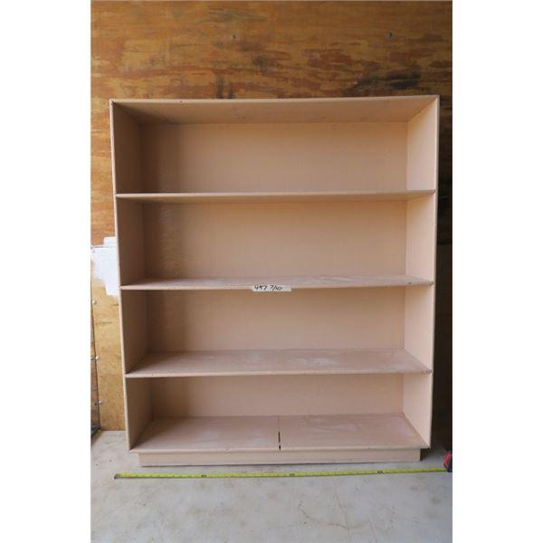 "4 Shelf Pink Bookcase 26.5 X 10.5 X 50"""