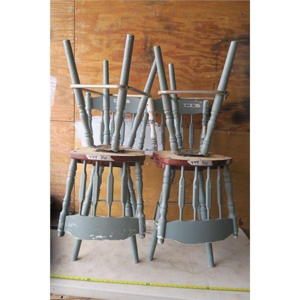 4 Swivel Kitchen Chairs