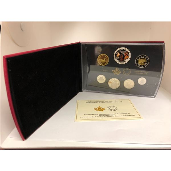 Royal Canadian Mint 2018 Special Edition Fine Silver Dollar Proof Coin Set - 240th Anniversary of Ca