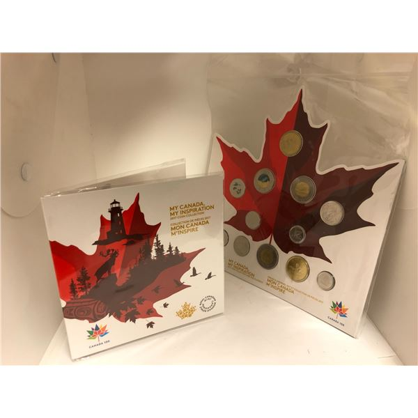 """Two Royal Canadian Mint """"My Canada, My Inspiration"""" 2017 Coin Collection"""