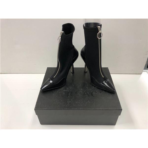 Pair of Versace size 38 black heels