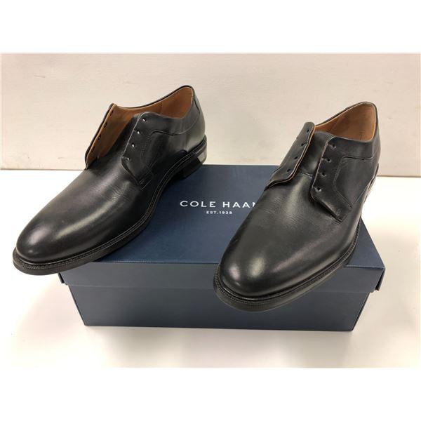 Pair of Cole Haan size 12 Warren Plain Ox black dress shoes
