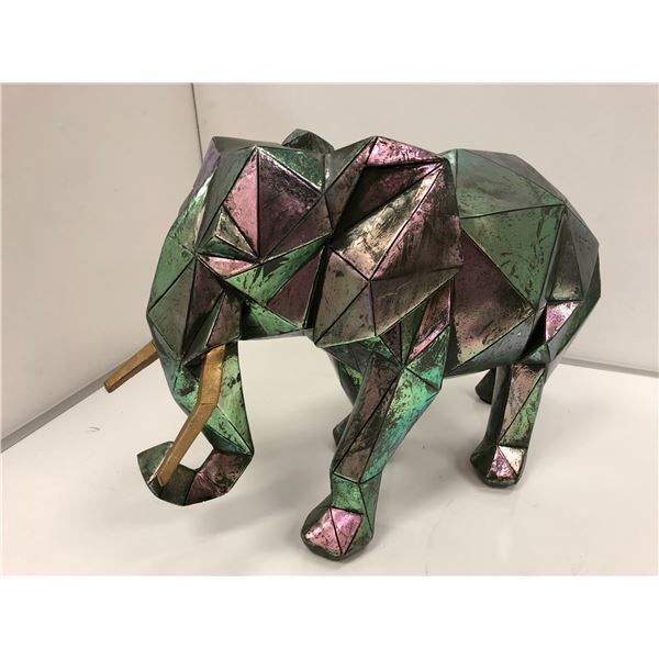 Large decorative elephant sculpture - approx. 20in across x 15in high x 10in wide