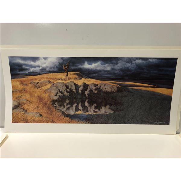 """Bev Doolittle """"Calling the Buffalo"""" limited edition #5209/8500 print signed  by artist"""