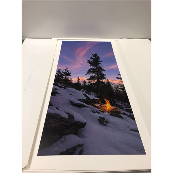 """Stephen Lyman """"Fire Dance"""" limited edition #6769/8500 print signed by artist"""
