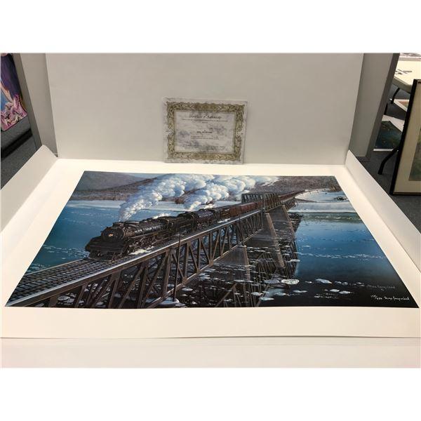 "Max Jacquiard ""Columbia River Bridge No.3 Revelstoke"" limited edition #175/4500 print signed by arti"