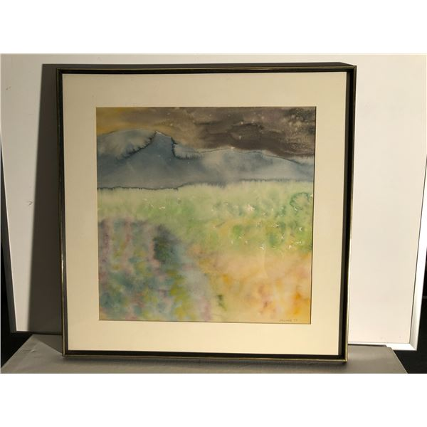 Frank Molnar framed watercolor painting 1977 - approx. 31in x 31in (98)
