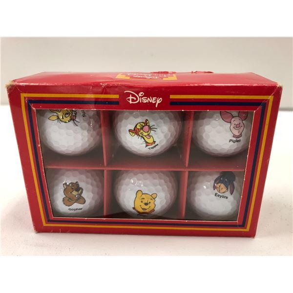 Vintage box of 6 Disney PRO collection golf balls