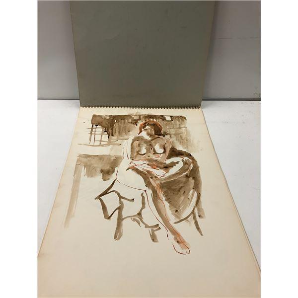 Frank Molnar sketchbook w/ 16 nude drawings (17)
