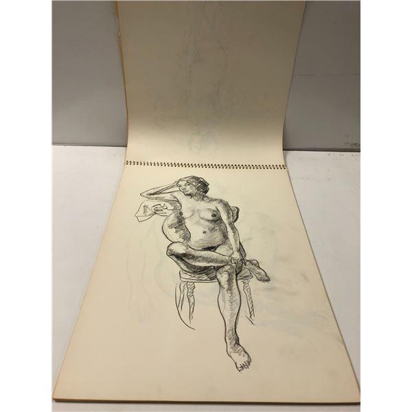 Frank Molnar sketchbook w/ 22 nude drawings (25)