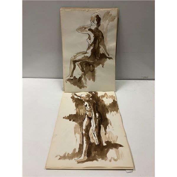 Frank Molnar sketchbook w/ 10 nude drawings (9)