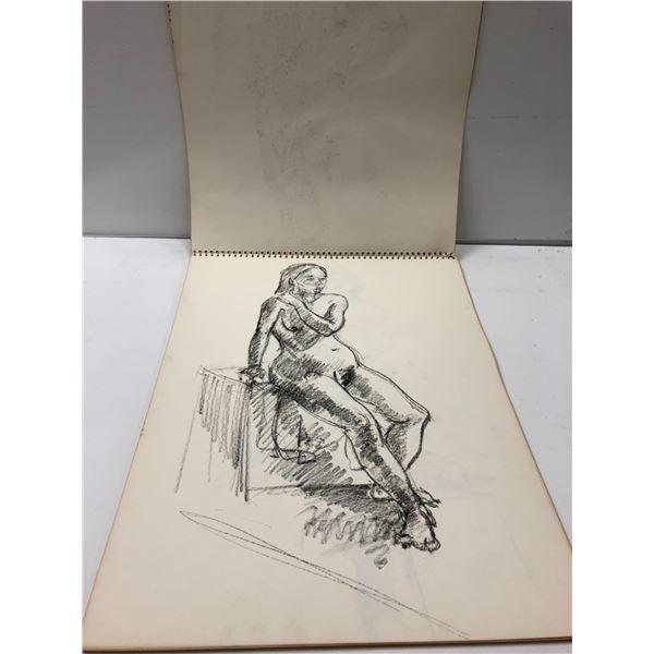 Frank Molnar sketchbook w/ 9 nude drawings (12)