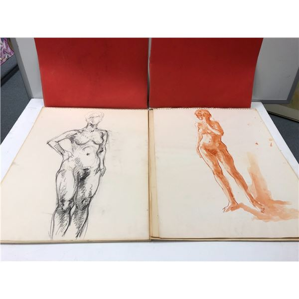 Two Frank Molnar sketchbooks containing only 2 nude drawings (1) & (1)