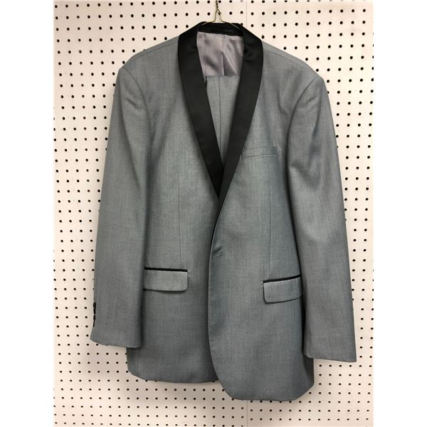 Renoir men's grey w/ black trim 2pc. suit size L 44/38