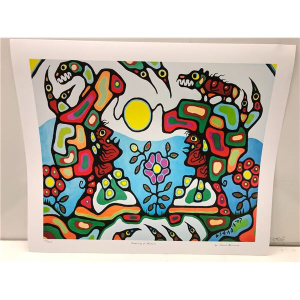"""Norval Morrisseau Canadian artist (1931-2007) - limited edition print """"Gathering of Shamans"""" #402/95"""
