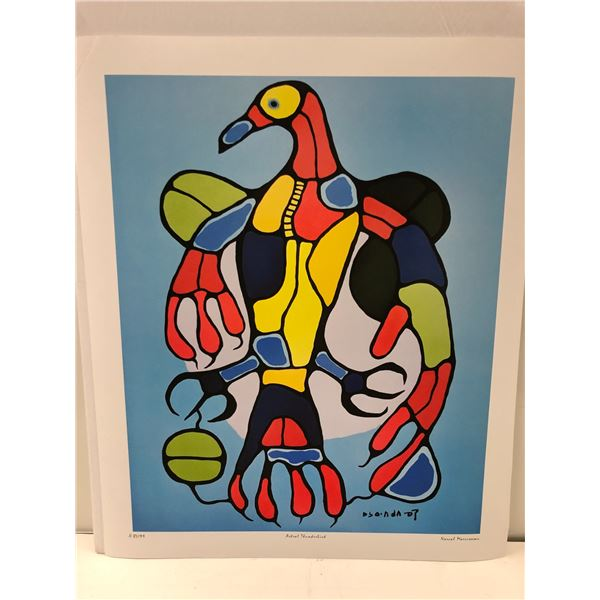 """Norval Morrisseau Canadian artist (1931-2007) - limited edition print """"Astral Thunderbird"""" #87/99 -"""