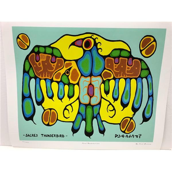 """Norval Morrisseau Canadian artist (1931-2007) - limited edition print """"Sacred Thunderbird 1976"""" #403"""