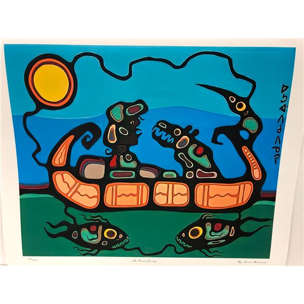 """Norval Morrisseau Canadian artist (1931-2007) - limited edition print """"The Great Journey"""" #403/950 -"""