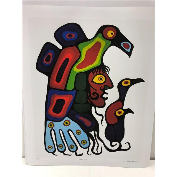 "Norval Morrisseau Canadian artist (1931-2007) - limited edition print ""Inner Self"" #403/950 - Estima"