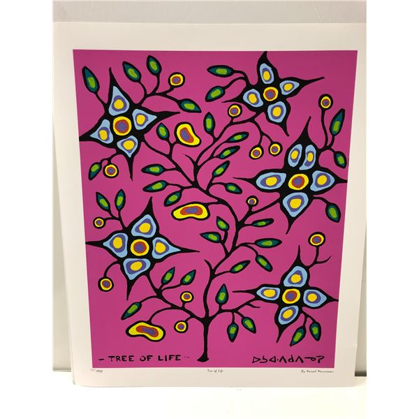 """Norval Morrisseau Canadian artist (1931-2007) - limited edition print """"Tree of Life"""" #404/950 - Esti"""