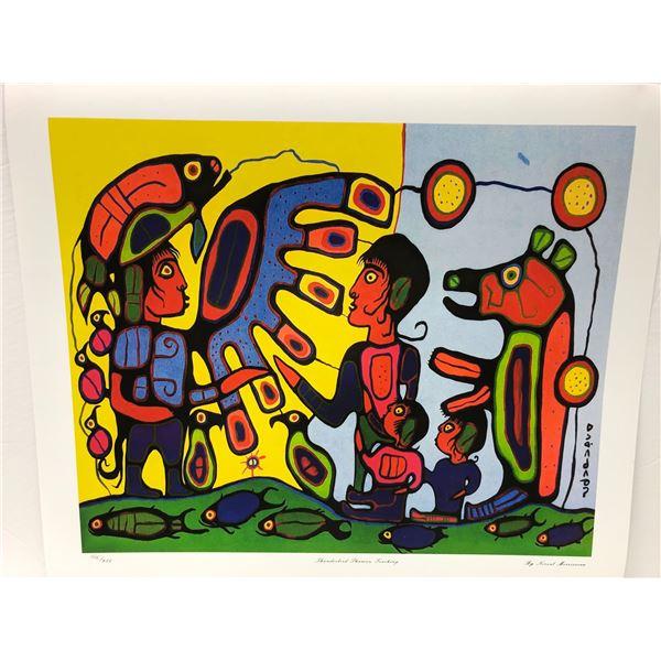 "Norval Morrisseau Canadian artist (1931-2007) - limited edition print ""Thunderbird Shaman Teaching"""
