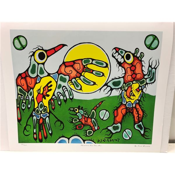 """Norval Morrisseau Canadian artist (1931-2007) - limited edition print """"Thunderbird Faces Cave Bear"""""""