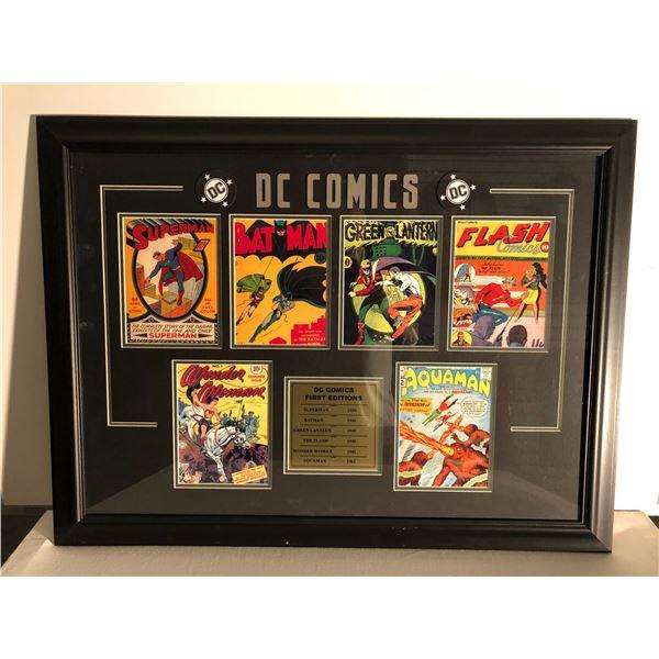 DC Comics First Editions framed collector's piece - Superman/ Batman/ Green Lantern/ Wonder Woman/ F