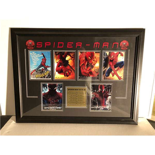 Spider-man in film framed collector's piece - 36in x 27in