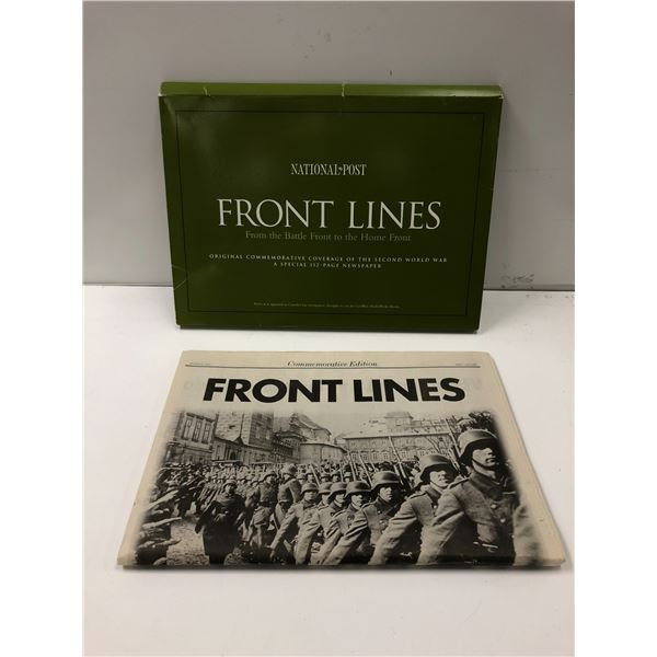 National Post Front Lines from the battle front to the home front original commemorative coverage of