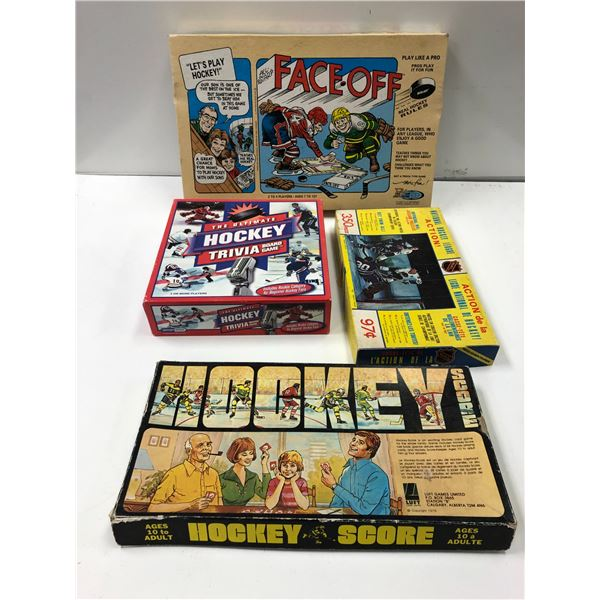 Group of 4 vintage NHL Hockey games & puzzles