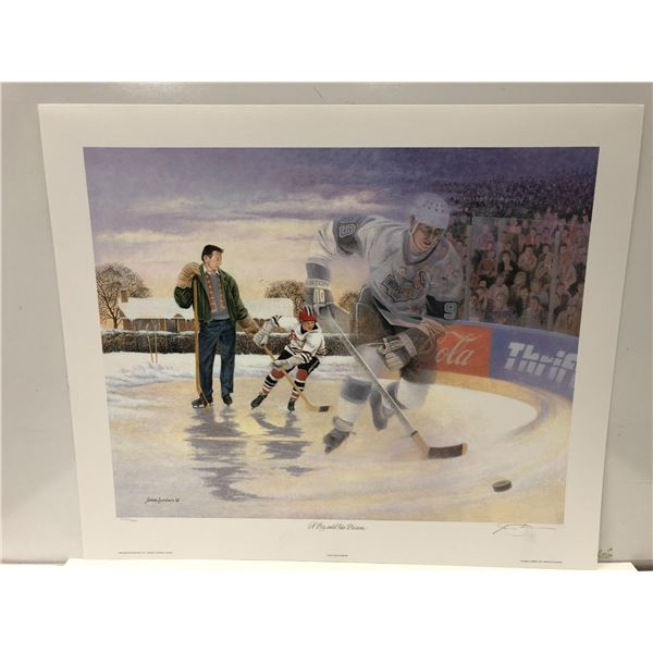 """""""A Boy and His Dream"""" by James Lumbers limited edition Wayne Gretzky print signed & numbered - appro"""