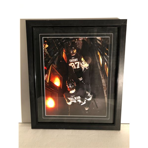 Framed Sidney Crosby & Evgeni Malkin NHL collector's print - approx. 23in x 27in