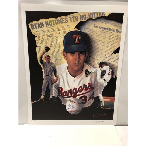 Nolan Ryan Major League Baseball limited edition lithograph by Robert Stephen Simon #245/1000 - sign