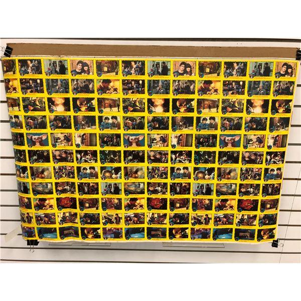Uncut sheet TN & Warner Bros LTD 1984 Gremlins movie collectors cards