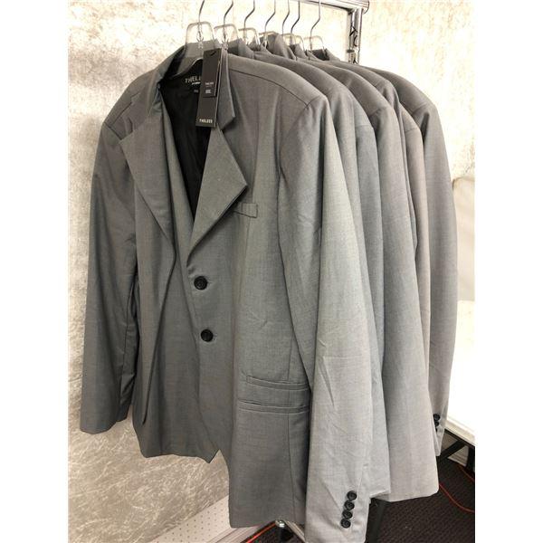 Group of 7 Thelees men's grey dress jackets - XXL & XXXL