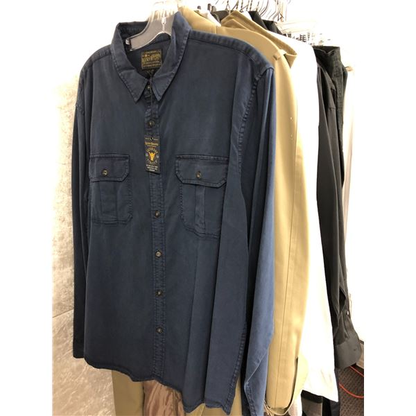Approx. 30 pcs. of film production company men's clothing - collared shirts/ pants etc. (some new so