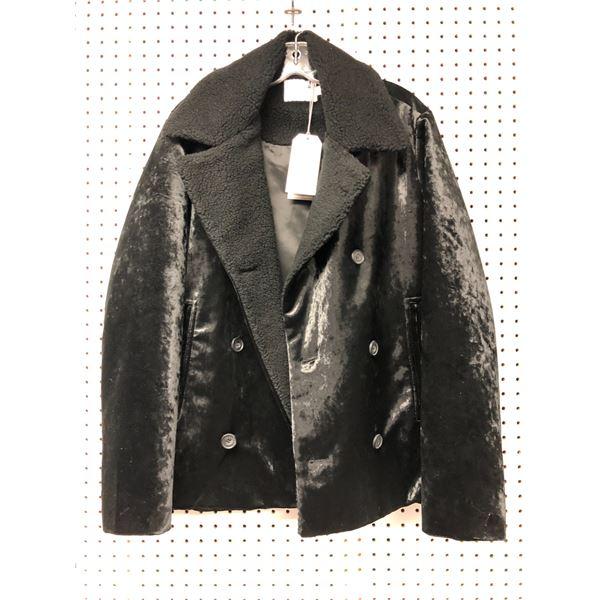 Topman premium men's black jacket size UK medium fits chest 38in-40in
