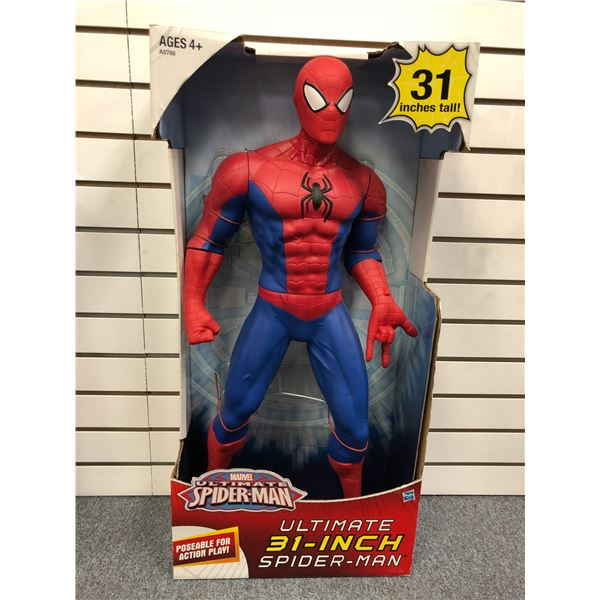 Marvel Ultimate Spider-Man 31in action figure poseable for action play (Hasbro 2013 in original box)