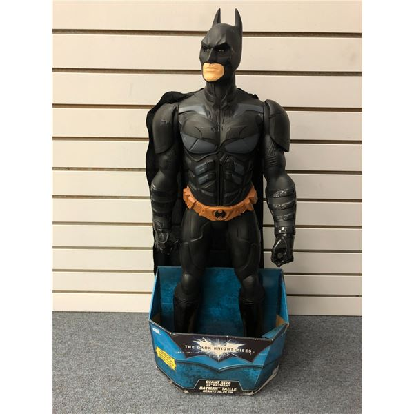 """DC Comics """"The Dark Knight Rises"""" 31in giant size Batman action figure (CDI Made in USA in original"""