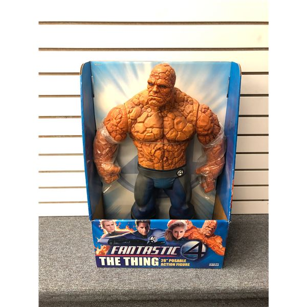 """DC Comics Fantastic 4 """"The Thing""""  26in poseable action figure (Toy Biz in original box)"""
