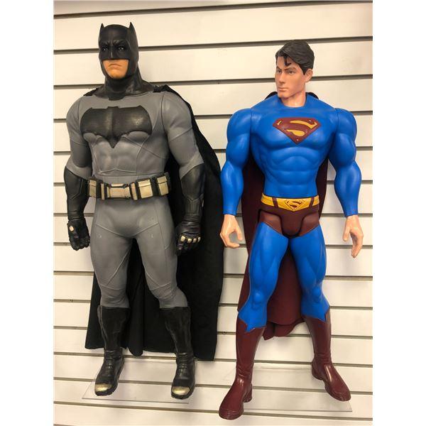 Two DC Comics 31in action figures - Batman & Superman