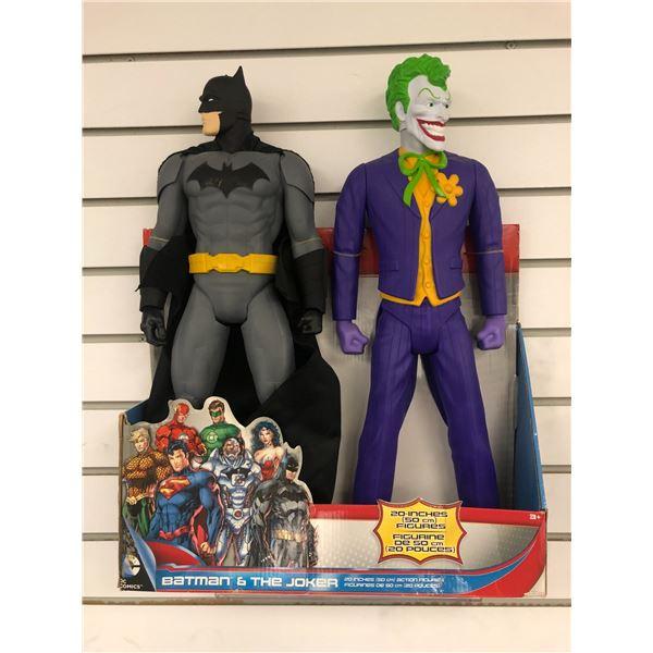 Pair of DC Comics 20in action figures - Batman & The Joker (Jakks Pacific in original box)